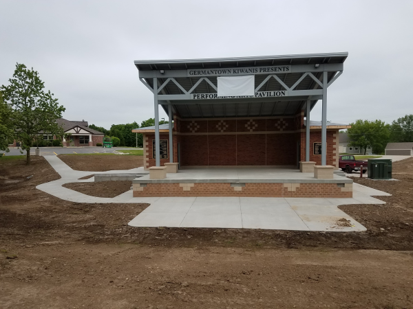 The Germantown Bandshell by the concrete contractors at Dornbrook Constructions