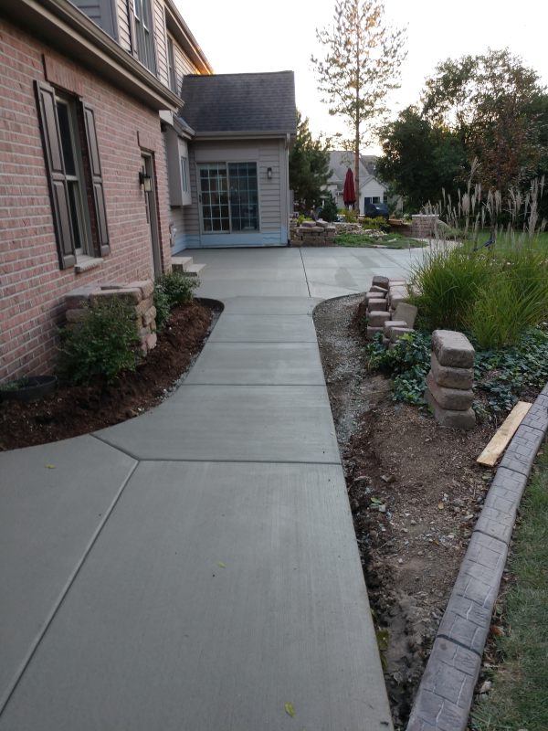 Custom Driveway and Patio Installation at a Home in Menomonee Falls