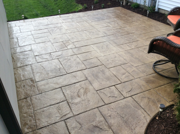 Gentil Decorative Concrete Patio Adds Stunning Outdoor Appeal