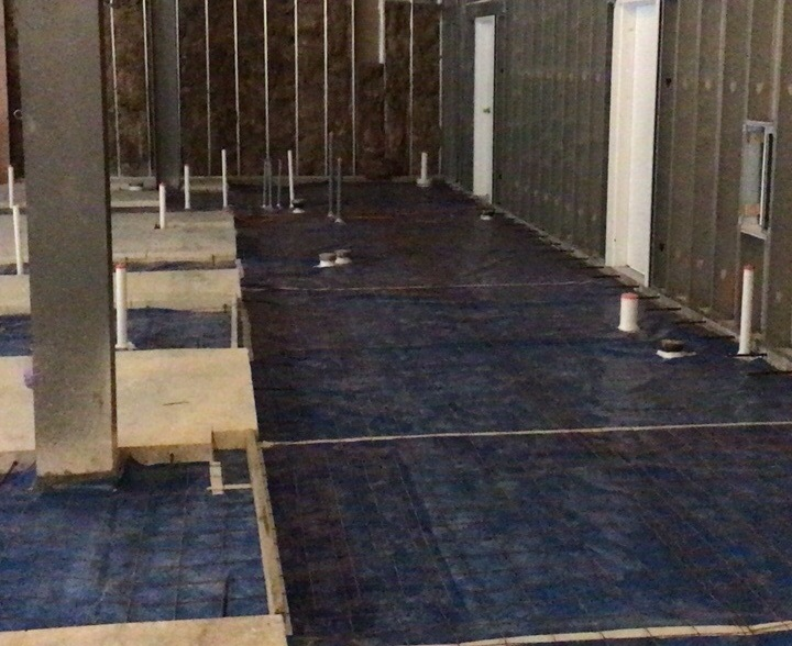 Wahlburgers Restaurant Concrete Floor Fill-in Prep