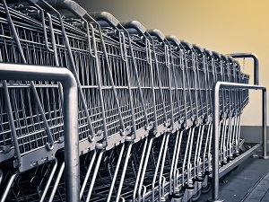 Shopping Carts at Big Box Store