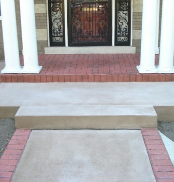 Decorative Concrete Porch Milwaukee