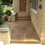 Decorative Concrete for Wauwatosa Stoop