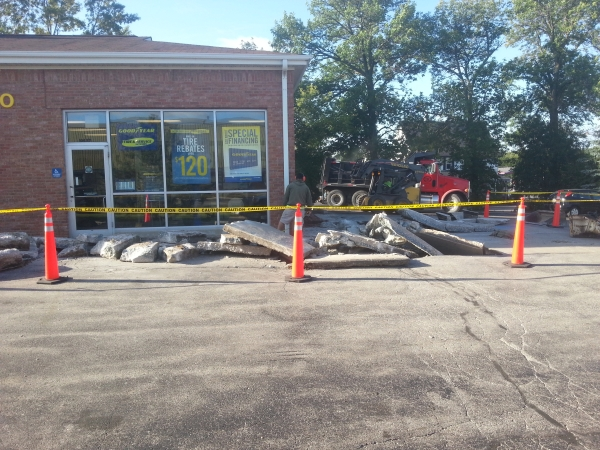Concrete Removal for Mequon Goodyear 2