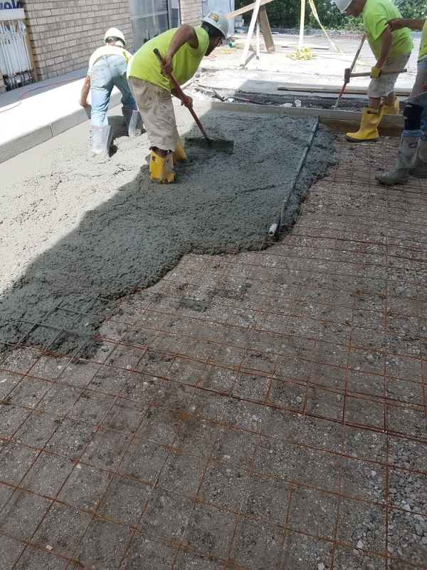 Gas Station Parking Lot Being Poured in New Berlin