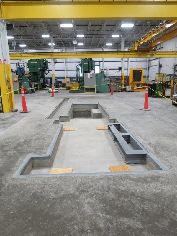 Complete Machine Foundation in A Milwaukee Industrial Facility
