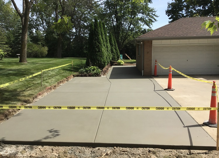 New Concrete Parking Slab Construction Brookfield