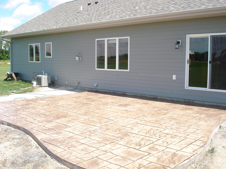 Milwaukee Stamped Concrete Patio Construction