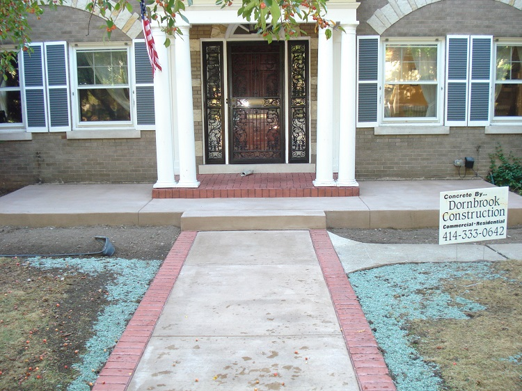 Stamped Colored Concrete Construction Wauwatosa