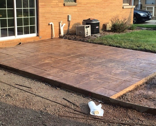 Stamped Concrete Patio Construction Milwaukee